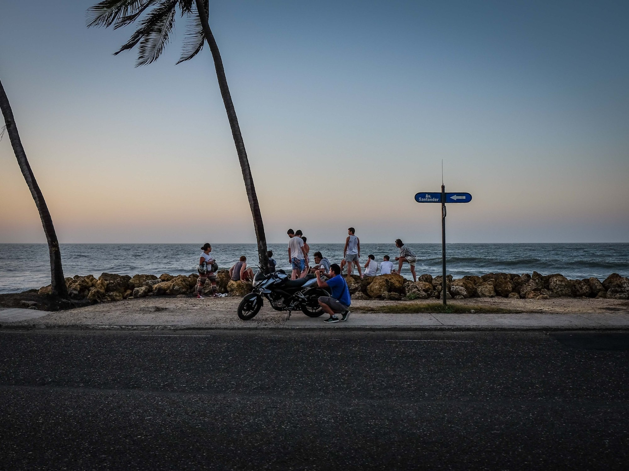 Cartagena Beach sunset