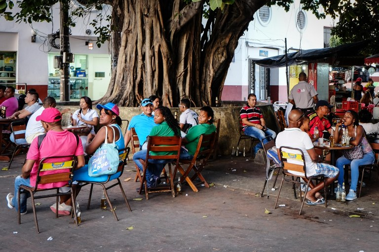 Cartagena street cafe
