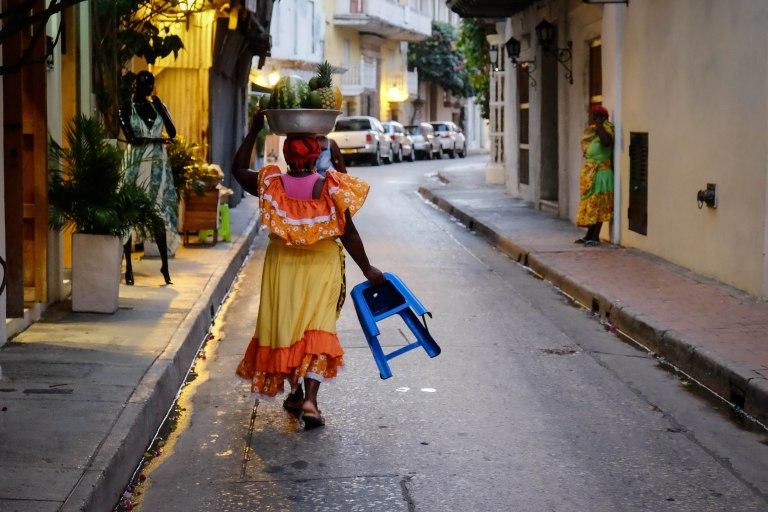 Cartagena fruit vendor