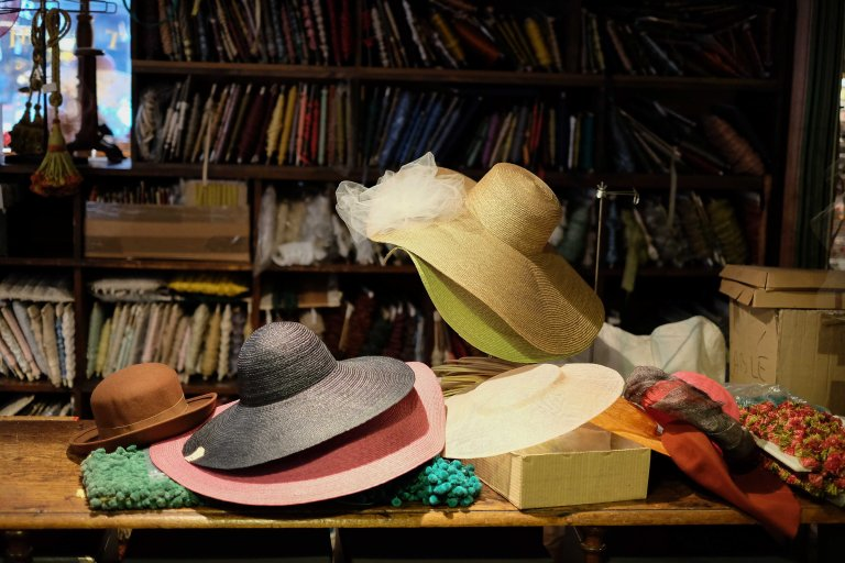 The Ultramod vintage hat shop treasures