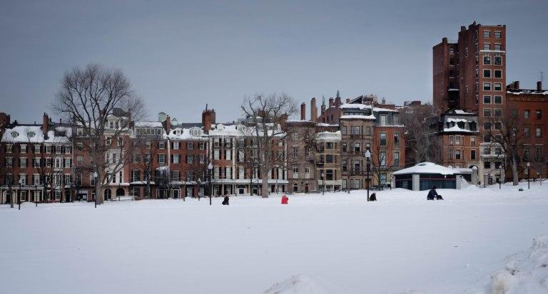 Boston Common snow