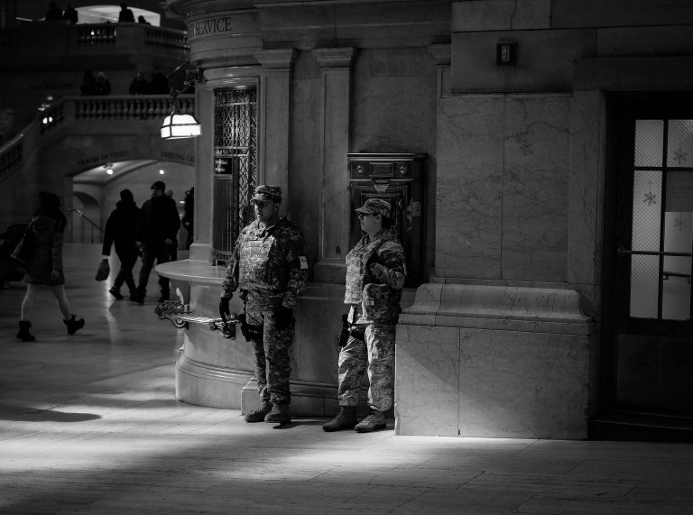 Grand Central armed security chameleons