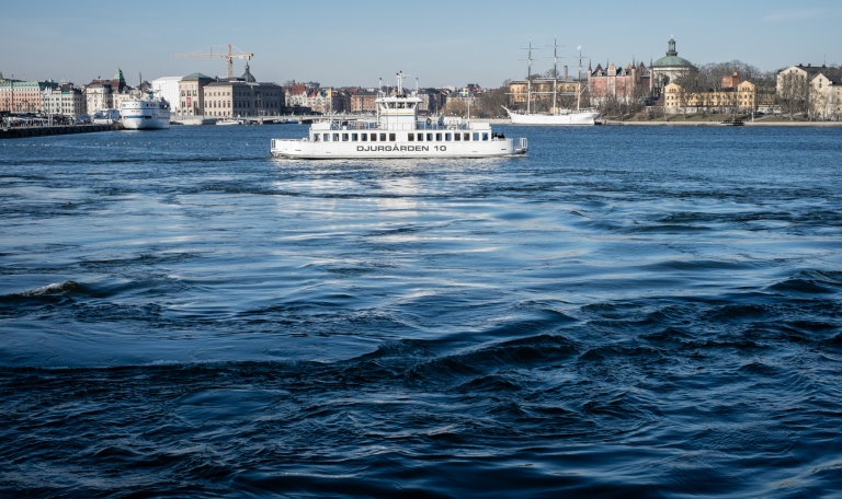 The dark waters of the Stockholm bay