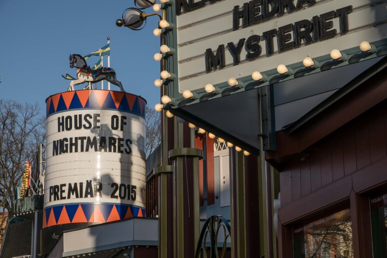 The mysterious house of nightmares at Gröna Lund amusement park