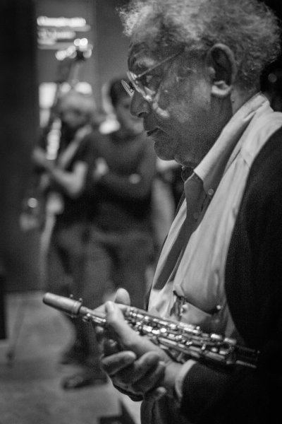 Anthony Braxton marching, Torino Jazz Festival 2015 Egyptology Museum