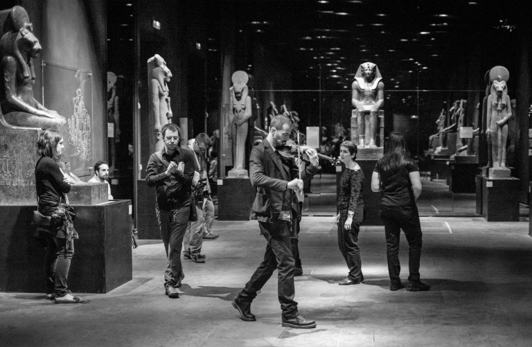 Kings Gallery marching ensemble, Torino Jazz Festival 2015 Egyptology Museum