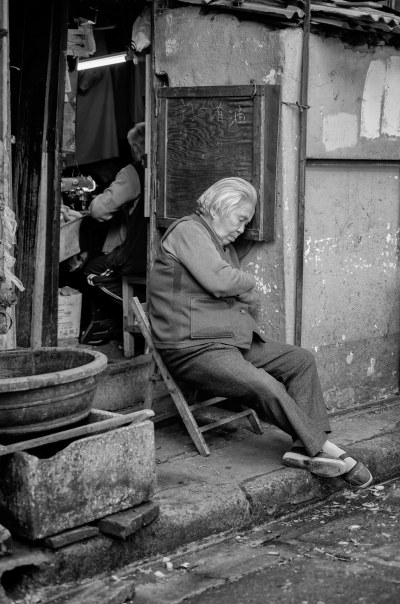 Nap time in the Old City of Shanghai