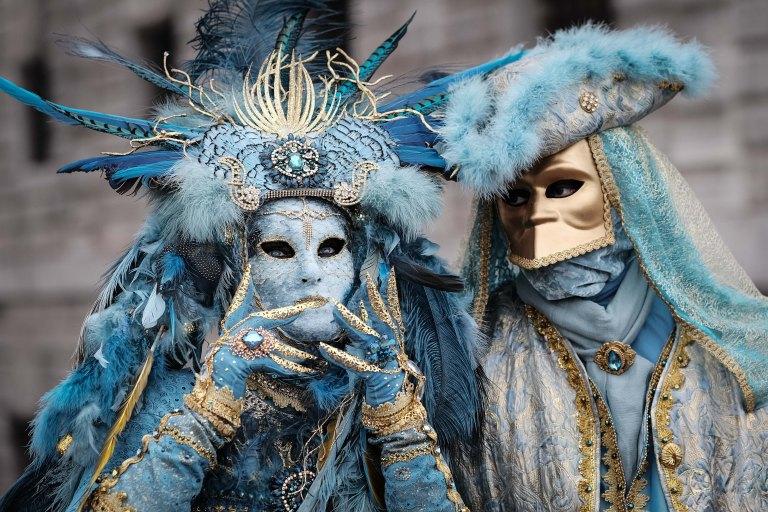 Ice blue couple, Venezia Carnival
