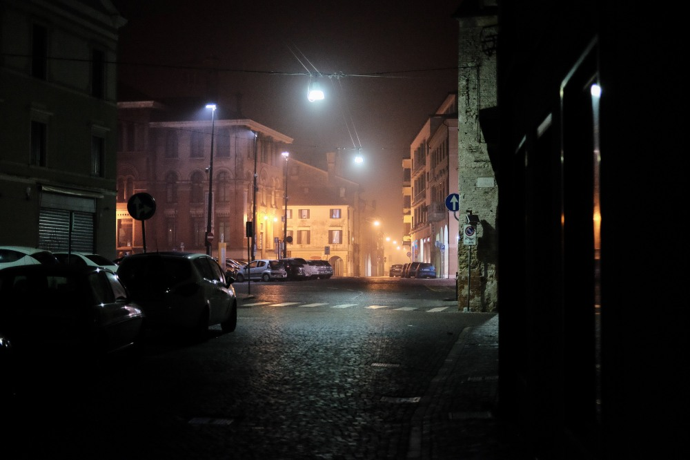 Misty streets of Treviso