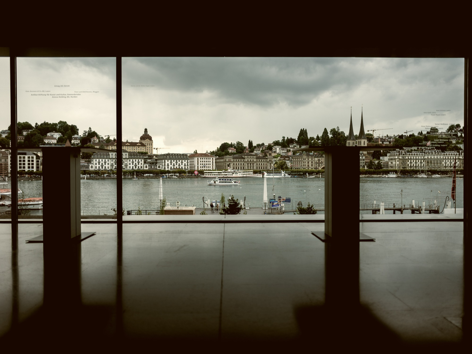 View of Lucerne from inside the KKL