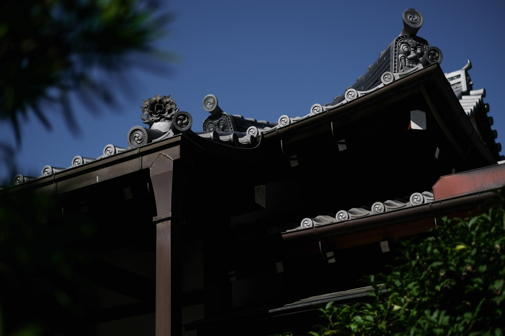 Kyoto temple, roof