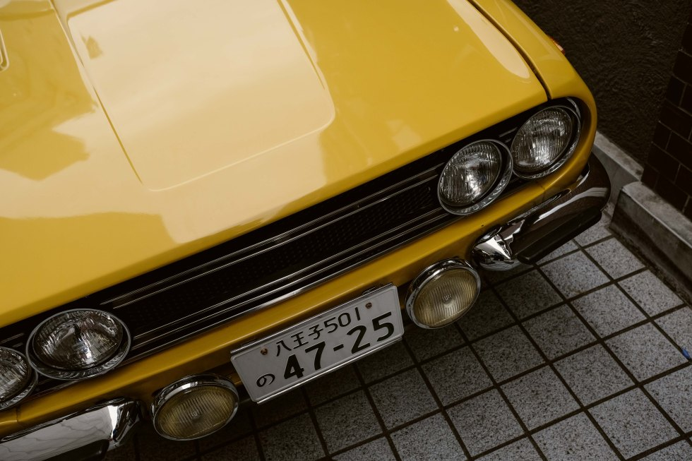 The Yellow Isuzu Bellett 1800 GT